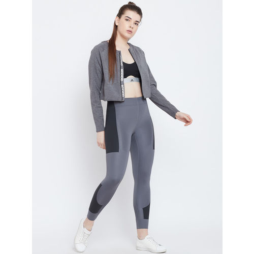 ADIDAS Women Grey Solid Design 2 Move Track Jacket
