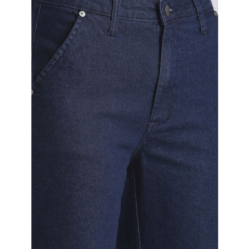 Chemistry Women Blue Mid-Rise Clean Look Cropped Flared Jeans