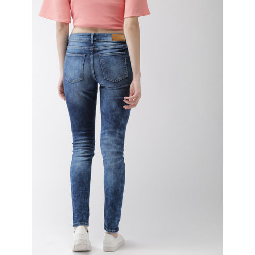 Scotch & Soda Women Blue Skinny Fit Mid-Rise Clean Look Stretchable Jeans