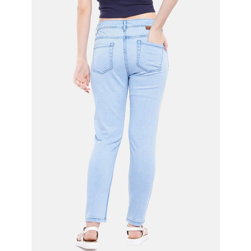 United Colors of Benetton Women Blue Skinny Fit Mid-Rise Clean Look Stretchable Jeans