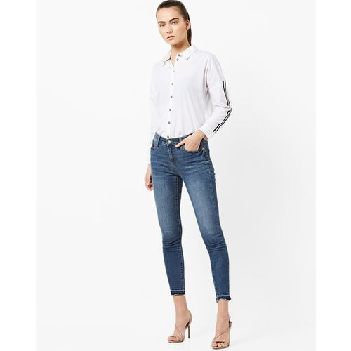 GAS Mid-Rise Washed Skinny Jeans