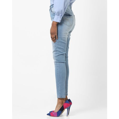 DNMX High-Rise Distressed Skinny Jeans