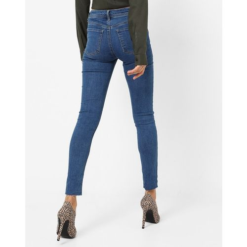 TALLY WEiJL Lightly Washed Low-Rise Skinny Jeans