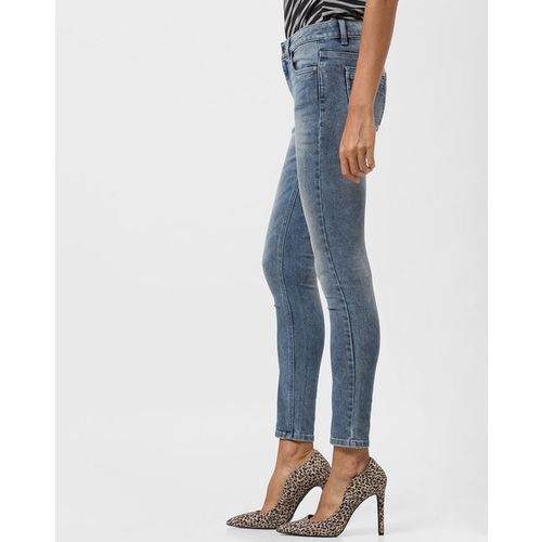 DNMX Low-Rise Washed Skinny Fit Jeans