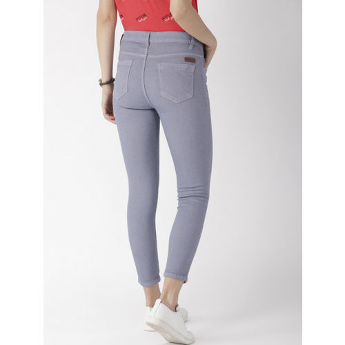 Mast & Harbour Women Blue Skinny Fit Mid-Rise Clean Look Stretchable Jeans