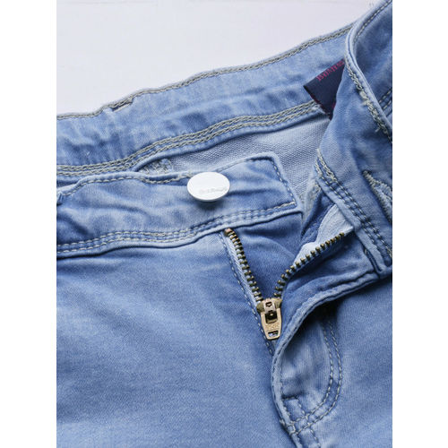 Kraus Jeans Women Blue Slim Fit Mid-Rise Clean Look Stretchable Jeans