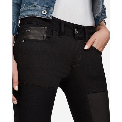 G STAR RAW Mid-Rise Skinny Jeans with Patches