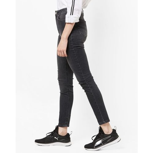 TRENDYOL Lightly Washed Mid-Rise Skinny Jeans