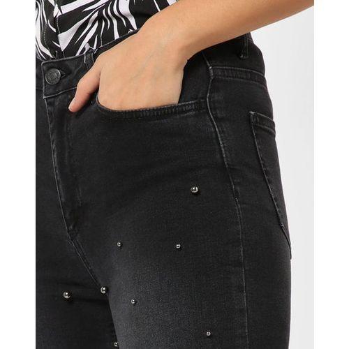 TRENDYOL Embellished High-Rise Skinny Fit Jeans