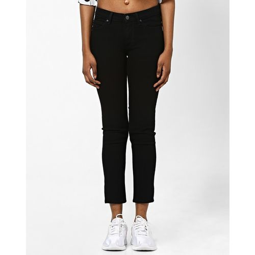 Lee Mid-Rise Ankle-Length Skinny Jeans