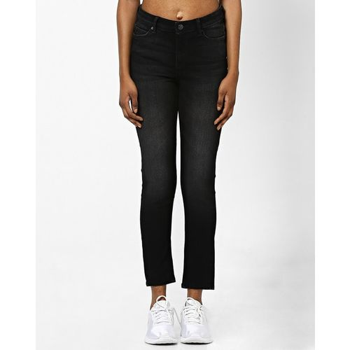 Lee Mid-Rise Lightly Washed Skinny Jeans