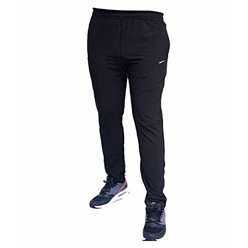FINZ Men's Ultra Stretchable Gym-Workout Navy Blue Track Pants in FabricSlim Fit with Extra Comfort