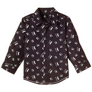 United Colors of Benetton Black Printed Cotton Shirts