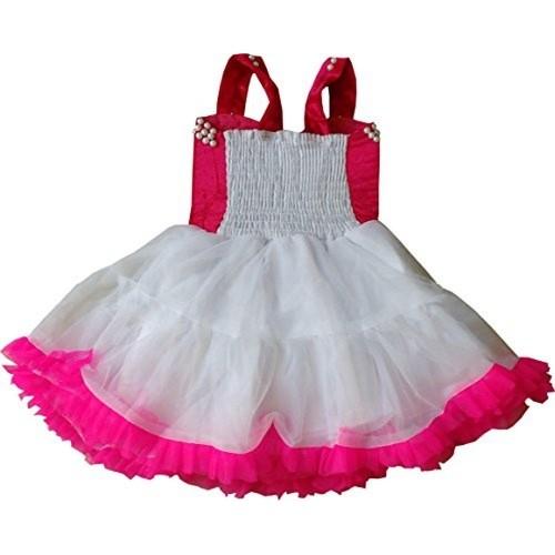 Cute Fashion Kids Girls Pink Party Wear Flower Dresses