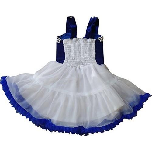 Cute Fashion Blue Party Wear Flower Dresses