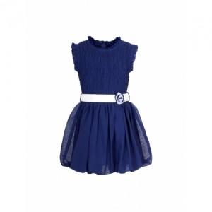 naughty ninos Girls Navy Fit & Flare Dress