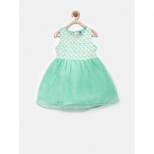 YK Mint Green Fit & Flare Dress