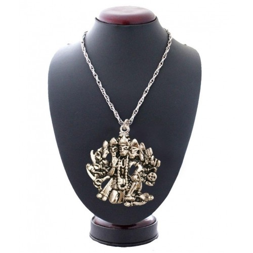 Buy rich famous silver panchmukhi hanuman pendant with chain rich famous silver panchmukhi hanuman pendant with chain aloadofball Images