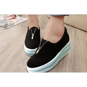 Street Style Store Black Synthetic Leather Casual Shoes