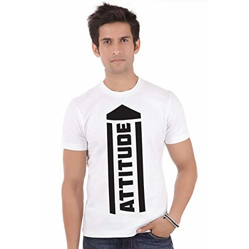 ShopMantra The Attitude Round Neck Short Sleeve Casual Drifit Graphic Printed T-Shirt