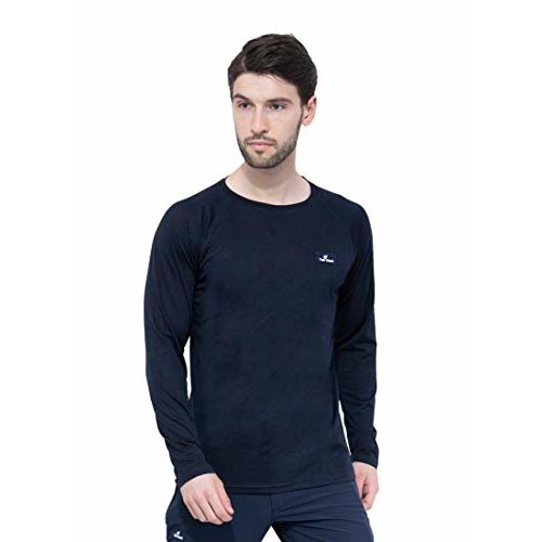 Trekmonk Men's Full Sleeve Sports t Shirt Navy