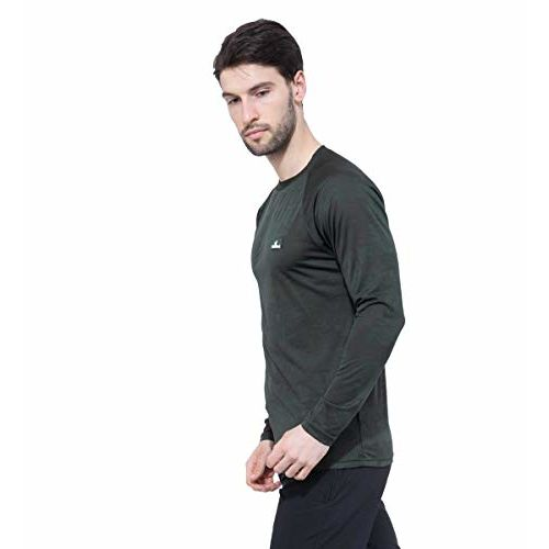 Trekmonk Men's Full Sleeve Sports t Shirt Olive