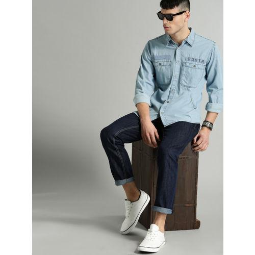Roadster Men Blue Regular Fit Denim Casual Shirt