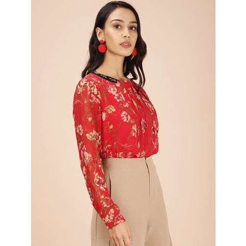all about you Women Red Printed Top