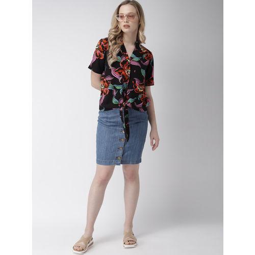 Levis Women Black Printed Shirt Style Top