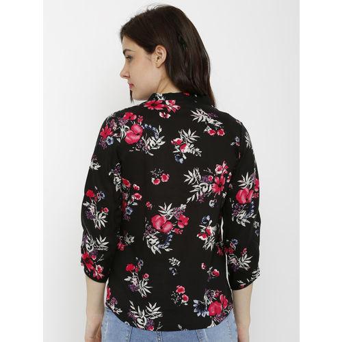 Kraus Jeans Women Black Printed Top
