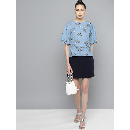 Marie Claire Women Blue Printed Top