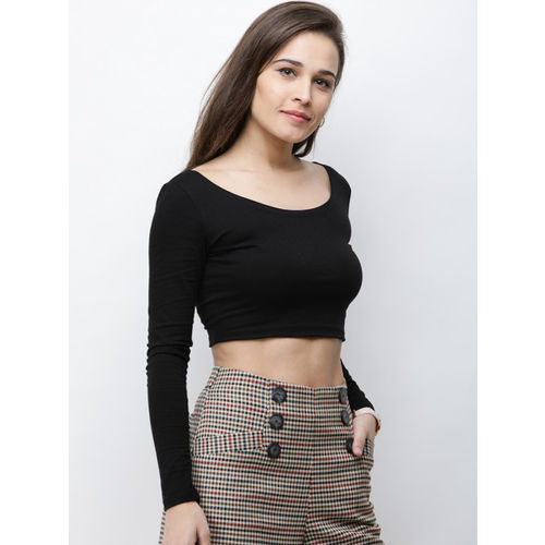 Cation Women Black Solid Top
