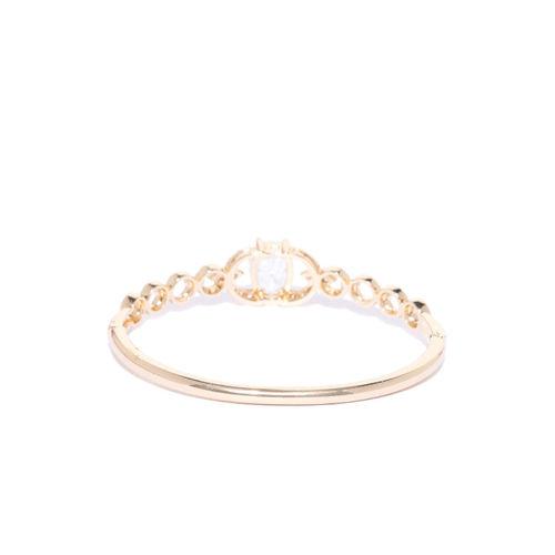 Carlton London Gold-Plated CZ Studded Bangle-Style Bracelet