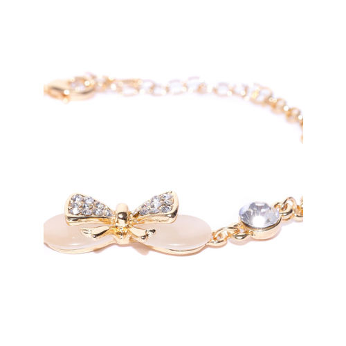 Carlton London Gold-Plated CZ Stone-Studded Link Bracelet
