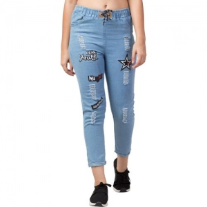 Funday Fashion Jogger Fit Women Light Blue Jeans