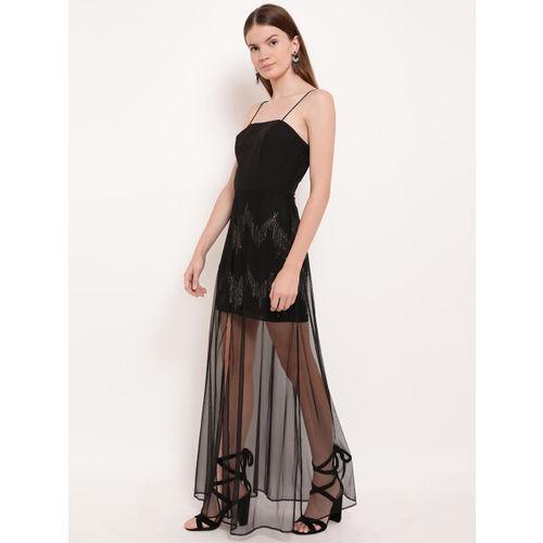 Kazo Black Embellished Maxi Dress