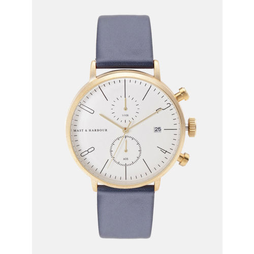Mast & Harbour Unisex Silver-Toned Chronograph Watch MFB-PN-WTH-6288G