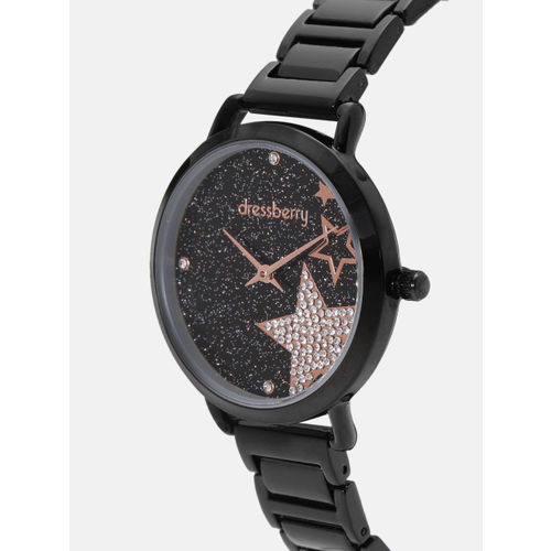 DressBerry Women Black Analogue Watch MFB-PN-WTH-6283L-2