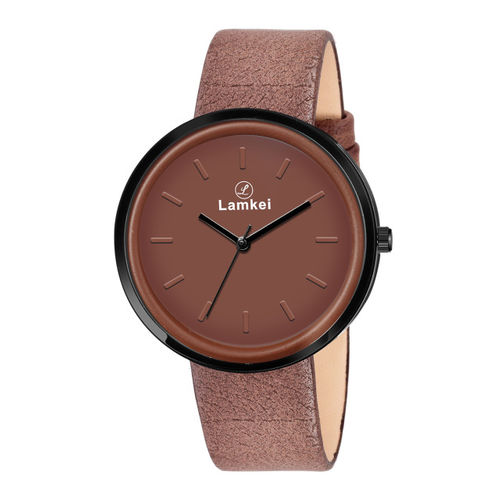 Lamkei Women Brown Analogue Leather Watch LAM-1151