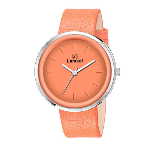 Lamkei Women Orange Analogue Watch