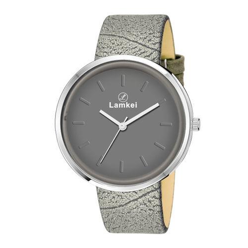 Lamkei Women Grey Analogue Watch