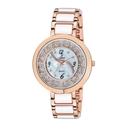 Lamkei Women Silver-Toned Analogue Watch