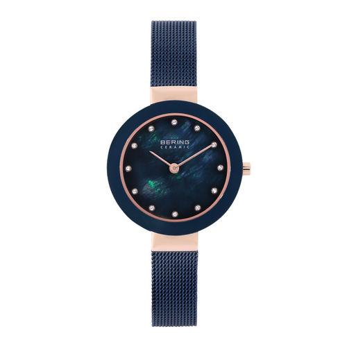 Bering Women Blue Ceramic Sapphire Crystal Watches 11429-367