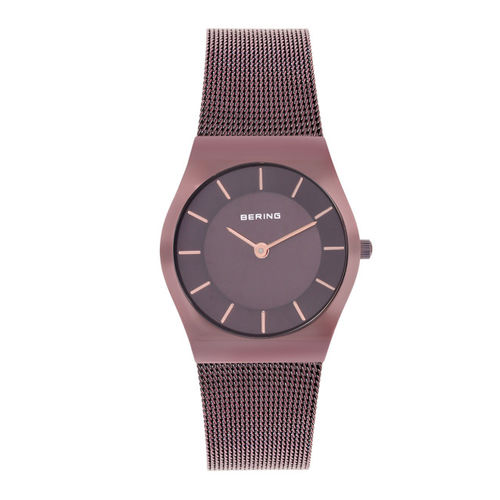 Bering Women Brown Sapphire Crystal Watches 11930-105