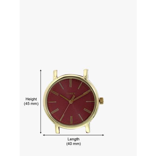 Timex Women Maroon Analogue Watch