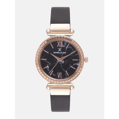 Daniel Klein Women Black Printed Analogue Watch DK12071-6