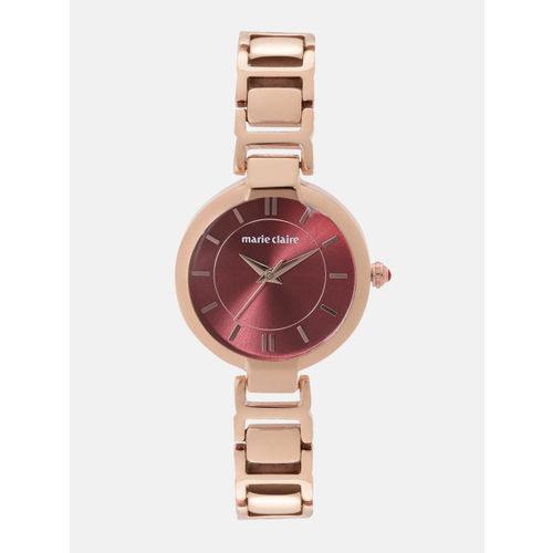 Marie Claire Women Maroon Analogue Watch MC 16C-A