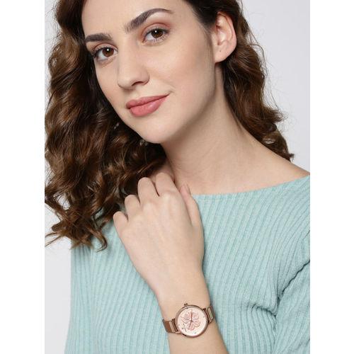 Daniel Klein Trendy Women Peach-Coloured Analogue Watch DK12047-2