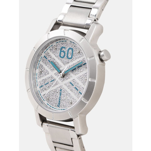 Fastrack Women White Printed Analogue Watch 6112SM04