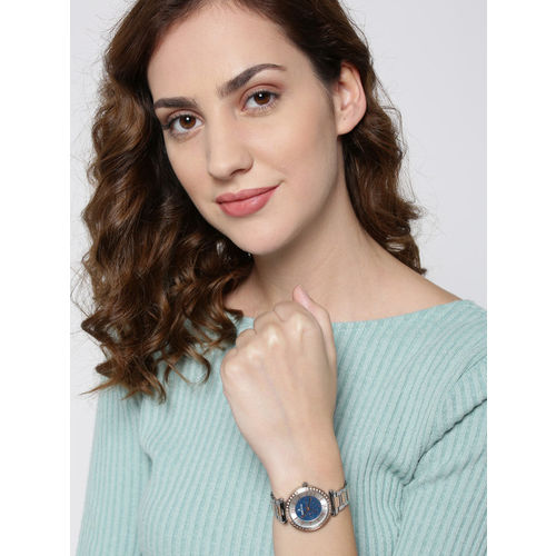 Daniel Klein Premium Women Blue & Silver-Toned Embellished Analogue Watch DK12042-6